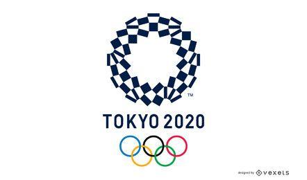 Logo-Design der Olympischen Spiele 2020 in Tokio
