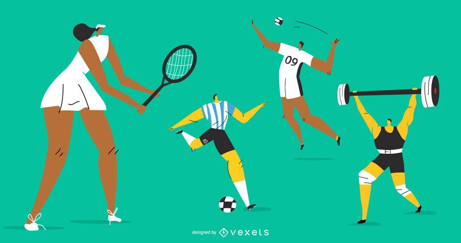 Olympic Sports Character Set