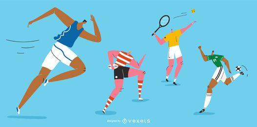 Pacote de personagens dos Jogos Olímpicos
