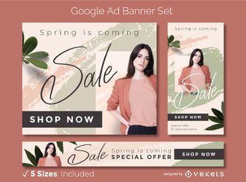 Frühlingsbanner-Design-Set