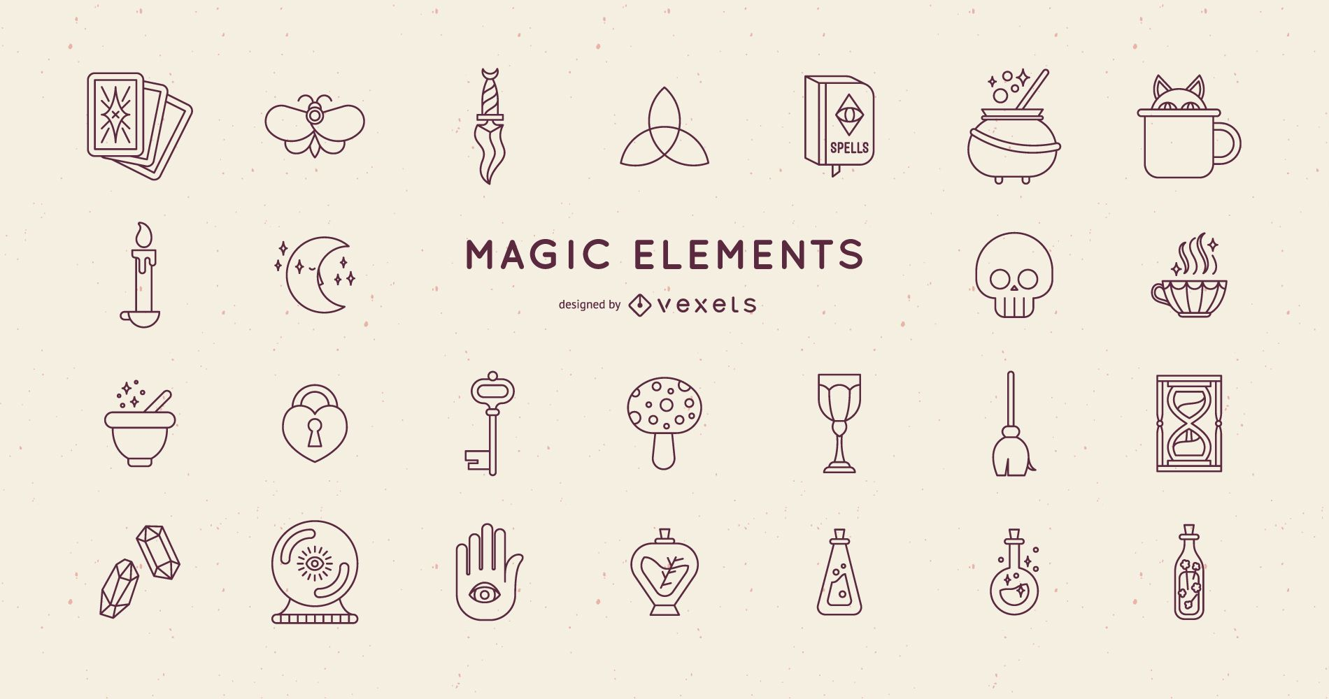 Magic Elements Stroke Design Pack