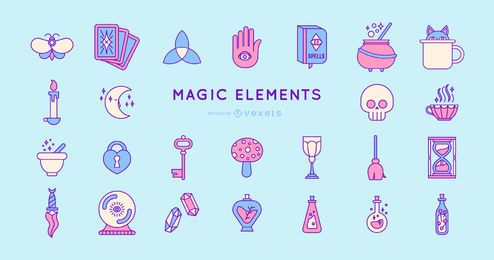 Colored Magic Elements Design Pack