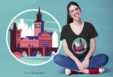 Design de camiseta de Praga