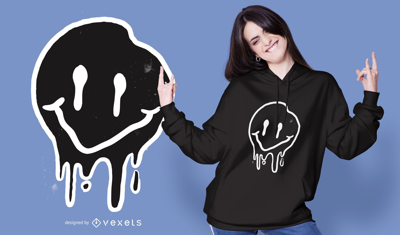 Design de camiseta preta sorridente