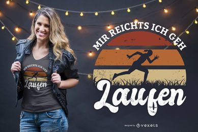 Ve corriendo diseño de camiseta alemana