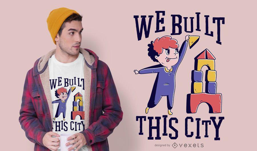 Construyó este diseño de camiseta de la ciudad