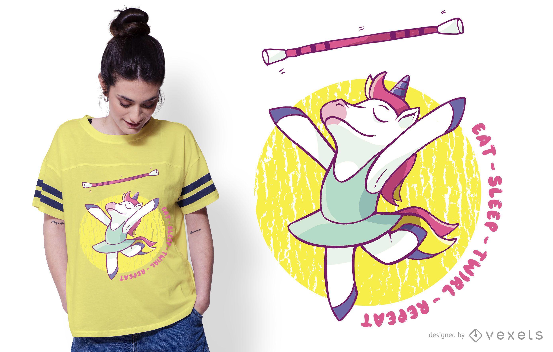 Diseño de camiseta Eat Sleep Twirl