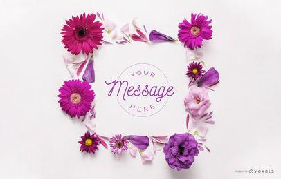 Maquete de quadro floral