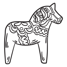 Dalecarlian, cavalo, dala, cavalo, golpe