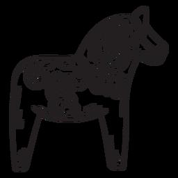 Dalecarlian horse dala horse stroke