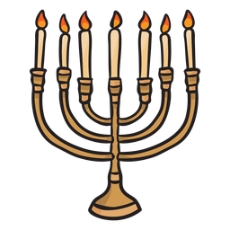 Hanukkah menorah velas judío illustrationl