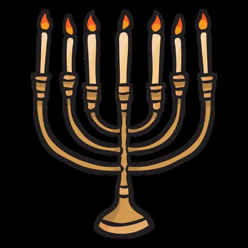 Hanukkah menorah candles jewish illustrationl Transparent PNG