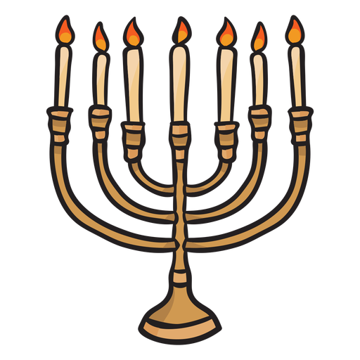 Hanukkah menorah velas judío illustrationl Transparent PNG