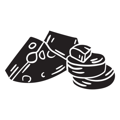 Ireland cheese illustration black