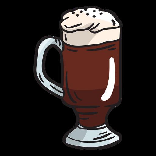 Irish coffee beverage whiskey illustration