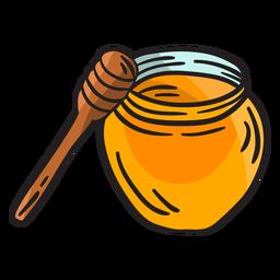 Ilustración de cazo de miel irlandesa