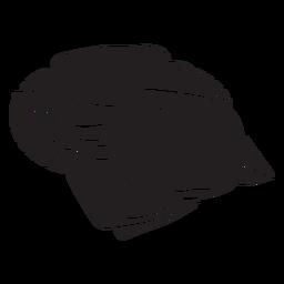 Pão israelita pita comida preto