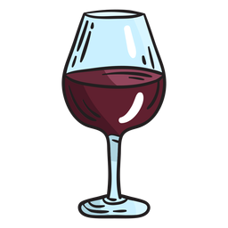 Israeli wine glass illustration
