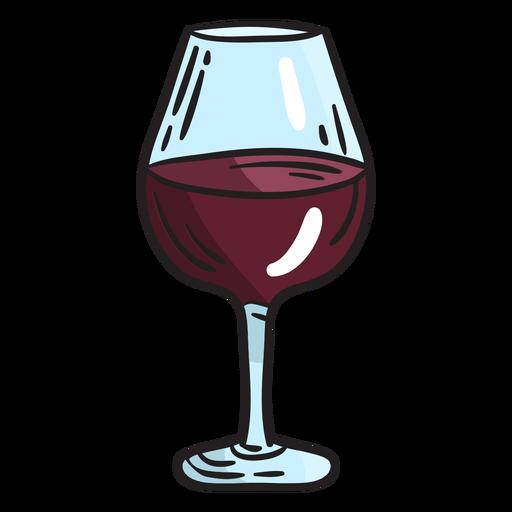 Israelische Weinglasillustration