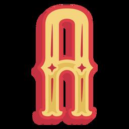 Mexikanischer ABC Buchstabe eine Ikone