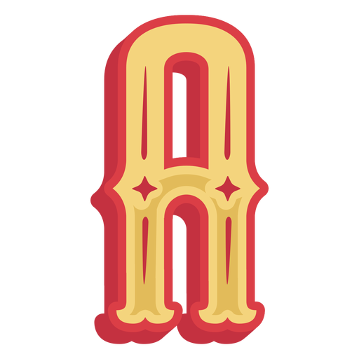 Mexican abc letter a icon