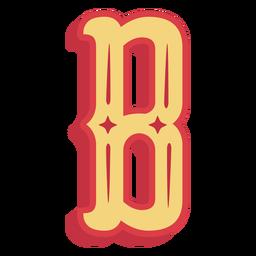 Ícone de letra b do abc mexicano