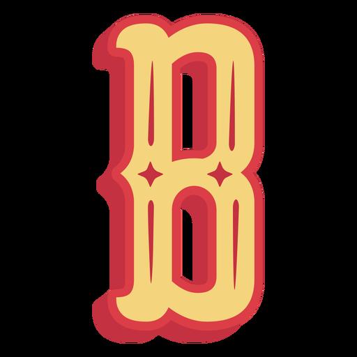 Icono de letra b abc mexicano