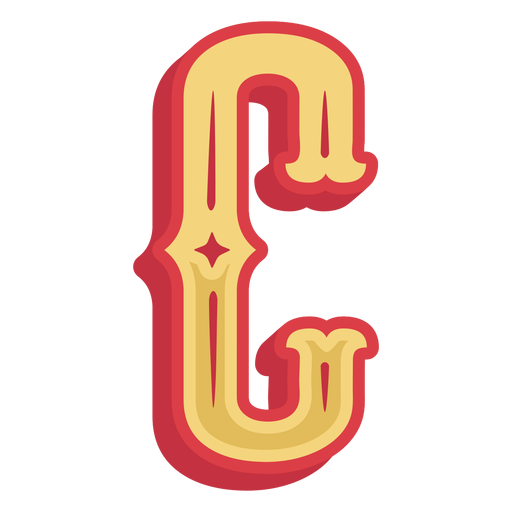 Icono de letra c abc mexicano