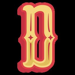 Ícone de letra d abc mexicano