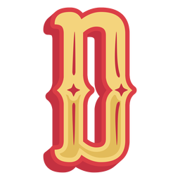 Mexican abc letter d icon