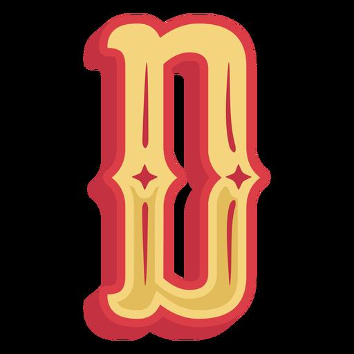 Icono de letra d abc mexicano Transparent PNG
