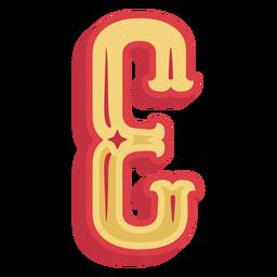 Ícone de letra e abc mexicano