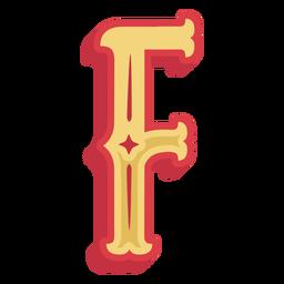 Ícone de letra abc mexicana f