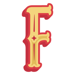 Mexican abc letter f icon