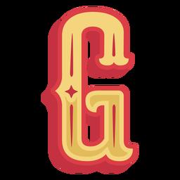Ícone da letra g abc mexicano