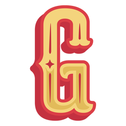 Mexican abc letter g icon