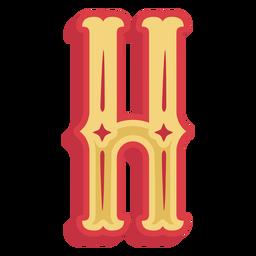Icono de letra h abc mexicano