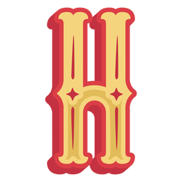 Mexican abc letter h icon