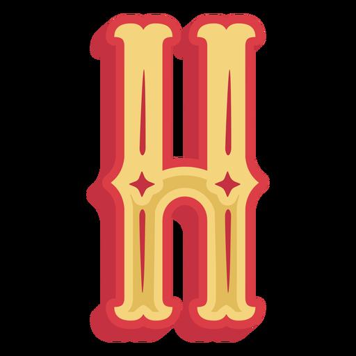 Icono de letra h abc mexicana Transparent PNG