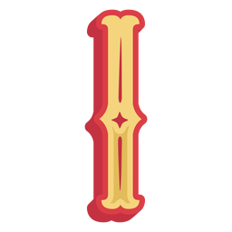 Letra abc mexicana i ícone