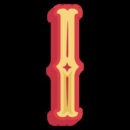 Mexikanische Abc Buchstabe I-Symbol