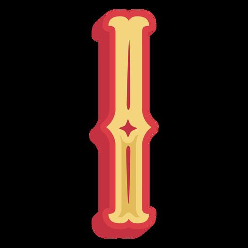 Icono de letra i abc mexicano