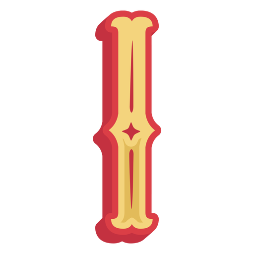 Mexican abc letter i icon Transparent PNG