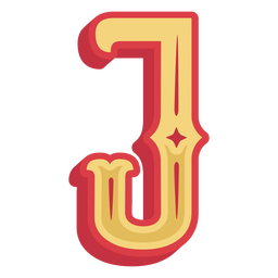 Mexican abc letter j icon