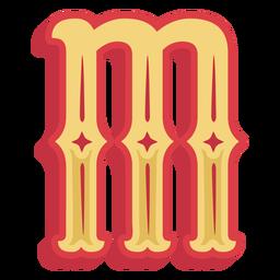 Abc mexicano letra m ícone