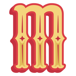 Mexican abc letter m icon