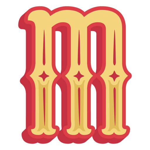 Mexican abc letter m icon Transparent PNG