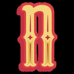 Icono de letra n abc mexicana