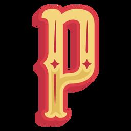 Ícone de letra abc mexicana p