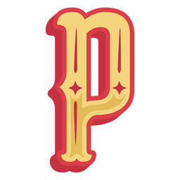 Icono de letra p abc mexicano